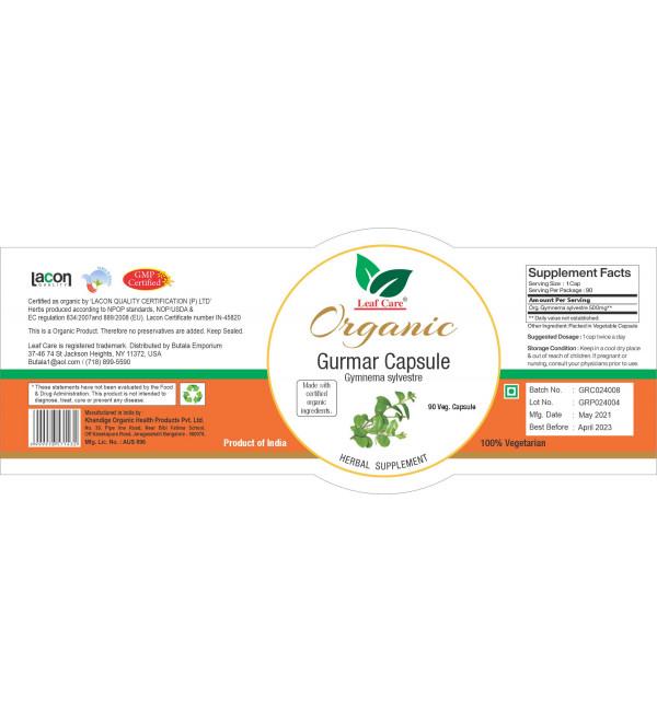 Org.Gurmer (Gymnema)  Capsule