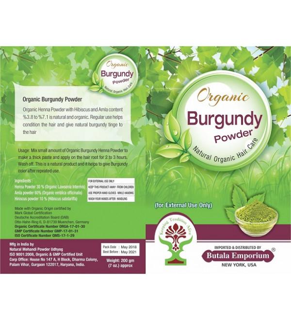 Organic Burgundy Henna for Hair