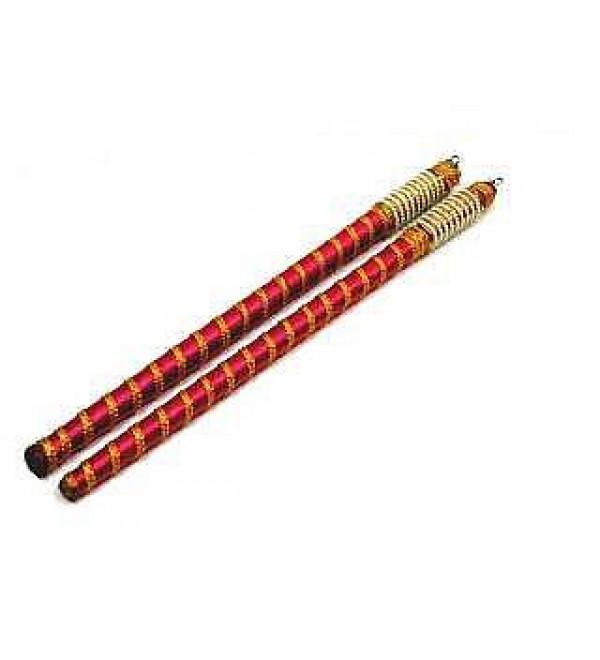 Wooden Cloth Dandiya: 1 Pair