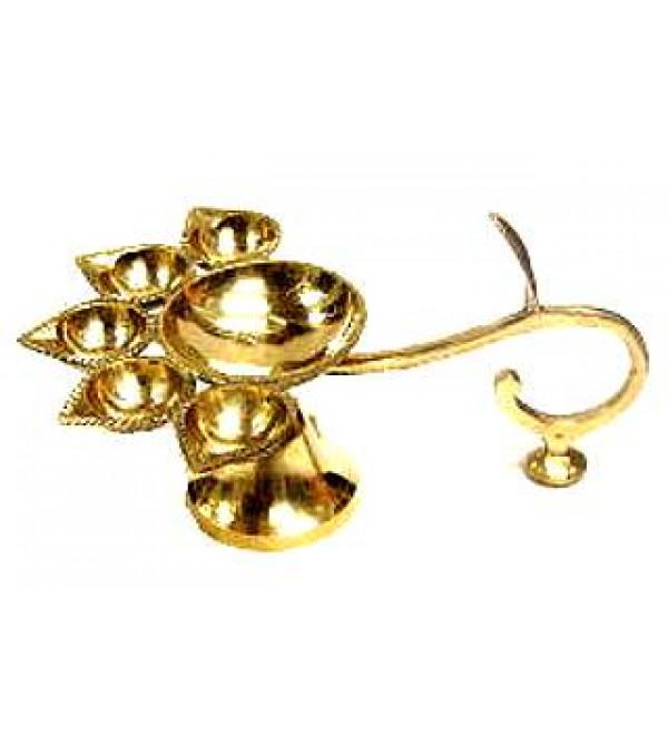 Brass Aarati Lamp (5 Faces)