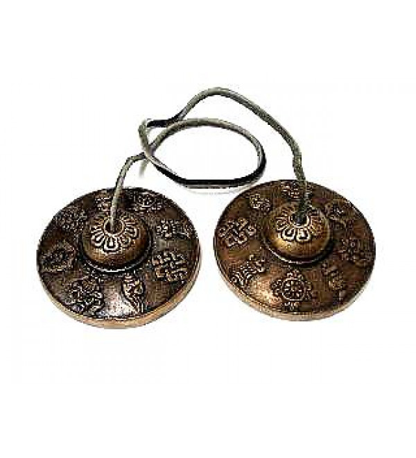 Brass Manjira (Cymbals) (Tibetan)