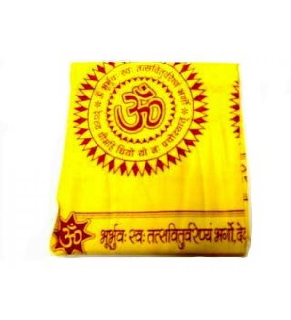 Shawl Yellow (Aum Gayatri Mantra)