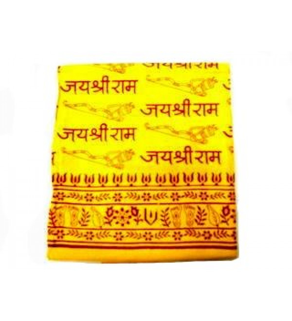 Shawl Yellow (Jai Shri Ram)