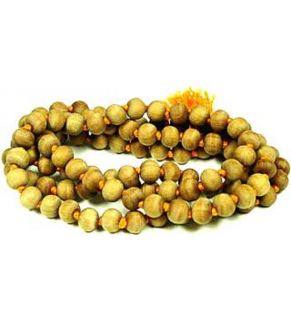 Japa Mala : White Sandalwood 108 Beads