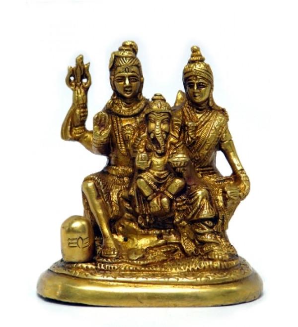 "Brass Shiv Pariwar 4"""