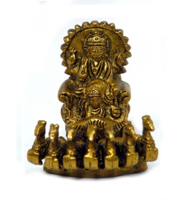 "Brass Surya (Sun God) 3"""