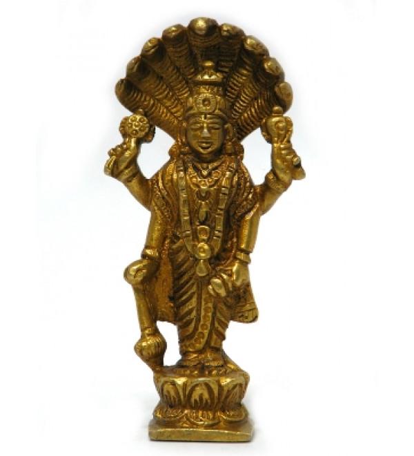 """Brass Vishnu 4"""""""