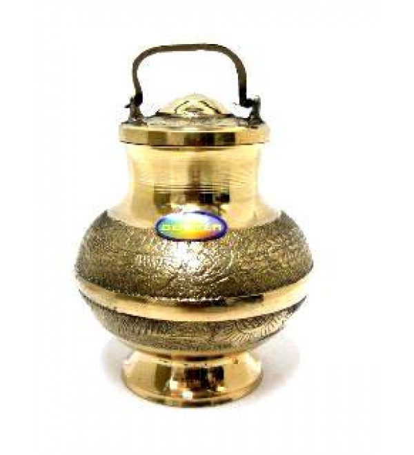 Brass Lota (Pot) with Cover