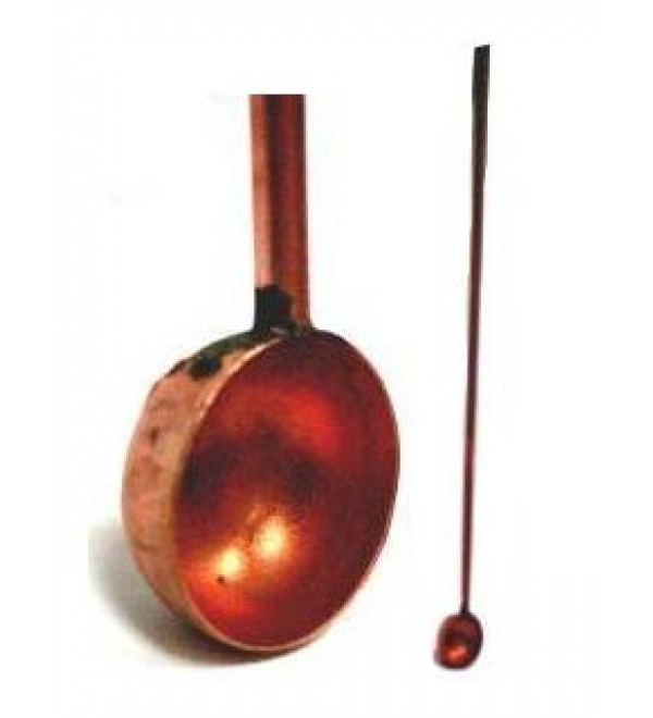 Copper Spoon with Long Handle for Hawan